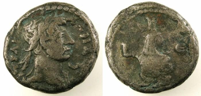 Ancient Coins - EGYPT.Alexandria.Hadrian AD 117-138.Bi.Tetradrachm.Rev.Canopus of Osiris.