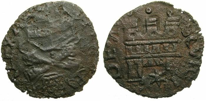 Ancient Coins - ITALY.PAPAL.Pope Alexander VI ( Rodrigo de Borja y Borja ) AD 1492-1503.AE.Quattrino.N.D.Struck at ASCOLI.