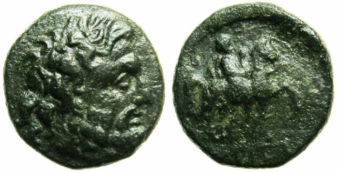 Ancient Coins - BLACK SEA.ODESSOS.Late 3rd -2nd Cent BC.AE.20.Zeus.Rider.