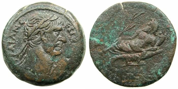 Ancient Coins - EGYPT.ALEXANDRIA.Trajan AD 98-117.AE.Drachma, struck AD 110/111.~#~.Nilus reclining.