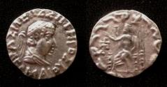 Ancient Coins - Indo-Greek kushan Hermaeus.Circa 40.AR Drachm.