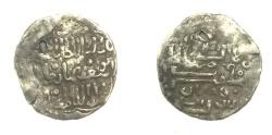 Ancient Coins - Mongol Illkhanid Abu Sa'id Bahadur Ibn Uljaitu.half dirham.AH 717-736.Damagan.Rare