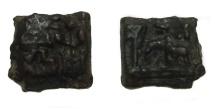 Ancient Coins - Sunga kingdom CA 150-100 AD.Copper Kakani.