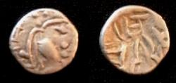 Ancient Coins - Ancient India Ranavigraha  8th Century AD.AR Damma.