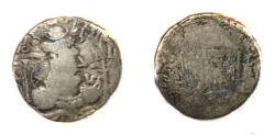Ancient Coins - Alchon Huns Mihira Kula AR Drachm 6th century.