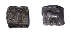 Ancient Coins - Sythian early Anepigraphic Coin.Circa 110-100 BC.AR Hemidrachm.