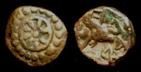 Ancient Coins - Ancient India Nagas of Padmavati,Devanage,3rd century AD.AE Copper Unit.