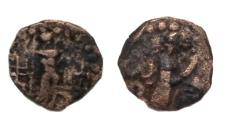 Ancient Coins - Soter Megas Circa AD 55-105.AE drachm.Struck in Kapisa Kabul valley province.