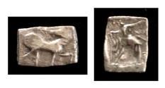 Ancient Coins - Early sythian Anepigraphic Coin with Rare monogram.Circa 110-100 BC.AR Hemidrachm.Rare