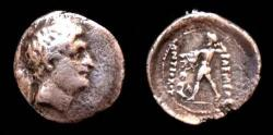 Ancient Coins - Bactrian Diodotos I. In the name of Antiochos II. c255-235 BC. AR drachm.