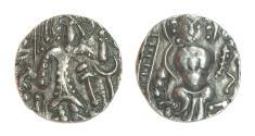 Ancient Coins - POST-KUSHAN INDIA. Hunnic Tribes. Kidarites. Ca. AD 350-385. Base gold dinar