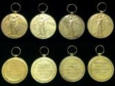 World Coins - Bristish Victory Medal WWI.1914-1919.Lot of 4 Medals.