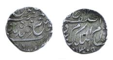 Ancient Coins - India Hyderabad state.Mir Mahbub Ali khan silver rupee.AH 1309 / 9 RY