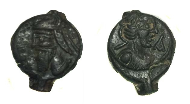 Ancient Coins - Parthian Vologases IV.AD 208-228.AE Dichalkous.
