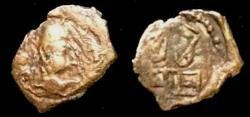 Ancient Coins - Alchon Huns,Khingila bronze obol 388-400 AD Rare.