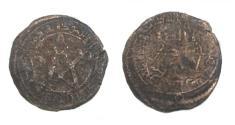 Ancient Coins - Anti-Umayyad rebel,AE fals.Abd al-Rahman b.muslim ( abu muslim ) Sijistan 132h.Zeno 162953.