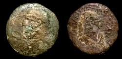 Ancient Coins - Parthian Mithradates II 123-88 BC.AE Dichalkous.