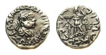 Ancient Coins - Indo-Greek Zoilos II. Era 75-50 BC. AR drachm