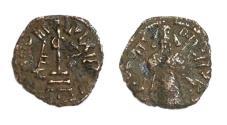 World Coins - Pre-reform Arab-Byzantine Abd al-Malik AE fals.minted ca 693-697 , Halab mint,Umayyad Caliphate.standing Caliph type.