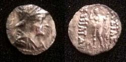 Ancient Coins - Bactrian Eucratides 1 Megas C.171-135 BC.AR Obol.Rare.
