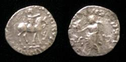 Ancient Coins - Indo-Sythian Azes II.Circa 35 BC-AD 5.AR drachm .