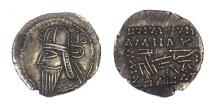 Parthian Vologases IV.AD 208-228.AR drachm