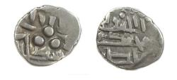 Ancient Coins - Pre-Habbarid Multan 712-856 AD.Bilingual type with Arabic and Brahmi Inscription.Umayyad or Abbasid of Multan,silver damma with the name of Governor Ahmed.