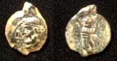 Ancient Coins - Parthian Phraates II.132-127 BC.AE chalkous