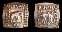 Ancient Coins - Indo-Greek Apollodotus 1.c.160-150 BC.AR drachm.