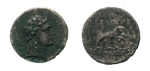 Ancient Coins - Bactrian Pantaleon.C 171-160 Nickel Di-Chalkous.