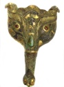 Ancient Coins - Chinese warring states or Han dynasty silver Gold inlaid belt hook.207 BC-220 AD.