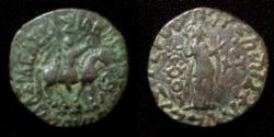 Ancient Coins - Indo-Sythian Aspavarma,Son of Indravarma.AD5-35.AE tetradrachm.