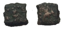 Indo-Greek Zoilos II. Era 75-50 BC. AE Chalkous.