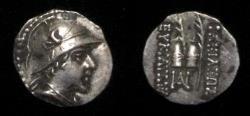 Ancient Coins - Bactrian Eucratides C.171-135 BC.AR Obol.