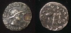 Ancient Coins - Indo-Greek Menander.C 160-145 BC AR drachm,Imitation.