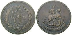 World Coins - RUSSIA, Catherine II, 1762-1796, 2 Kopeks 1765 no mint mark