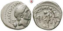 Sextus Pompeius Magnus, died 35 BC, Denarius 42-40 BC Sicily