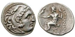 Ancient Coins - MACEDONIA, KINGDOM OF MACEDONIA, Alexander III, the Great, 336-323 BC, Drachm 323-319 BC Uncertain Asia Minor mint