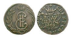 World Coins - RUSSIA, Catherine II, 1762-1796, Poluschka 1769 Kolyvan KM