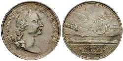 Ancient Coins - HESSEN, HESSEN-KASSEL, Karl, 1670-1730, Silver medal 1776
