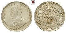 INDIA, BRITISH INDIA, George V., 1910-1936, 2 Annas 1916 Calcutta