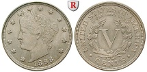 Us Coins - USA, 5 Cents 1898