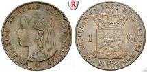 World Coins - NETHERLANDS, KINGDOM OF THE NETHERLANDS, Wilhelmina I., 1890-1948, Gulden 1897