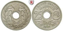 World Coins - FRANCE, Third Republic, 1871-1940, 25 Centimes 1917