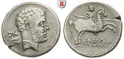 Ancient Coins - SPAIN, OSCA, Denar 150-100 BC