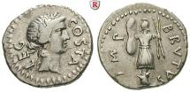 Ancient Coins - M. Iunius Brutus, *85 BC + 42 BC, Denarius 42 BC Military mint