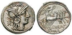 Ancient Coins - P. Maenius Antiaticus, 132 BC, Denarius 132 BC Rome