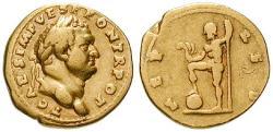 Ancient Coins - Titus, Caesar, 69-79, Aureus 74 Rome