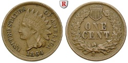 Us Coins - USA, Cent 1864