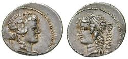 Ancient Coins - L. Cassius Longinus, 62 BC, Denarius 78 BC Rome